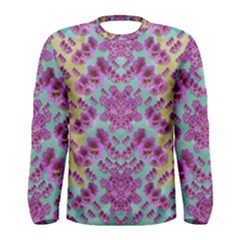 Climbing And Loving Beautiful Flowers Of Fantasy Floral Men s Long Sleeve Tee