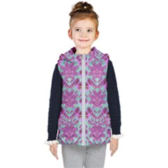 Climbing And Loving Beautiful Flowers Of Fantasy Floral Kid s Hooded Puffer Vest