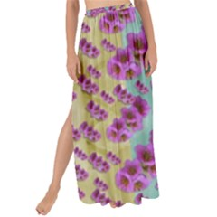Climbing And Loving Beautiful Flowers Of Fantasy Floral Maxi Chiffon Tie Up Sarong