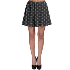 Geometric Pattern Dark Skater Skirt