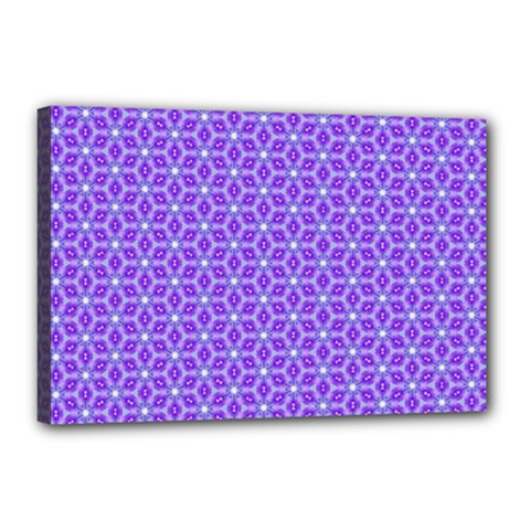 Lavender Tiles Canvas 18  X 12