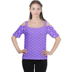 Lavender Tiles Cutout Shoulder Tee by jumpercat