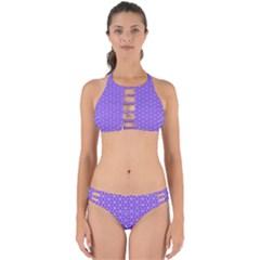 Lavender Tiles Perfectly Cut Out Bikini Set