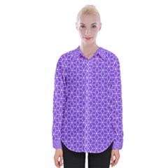 Lavender Tiles Womens Long Sleeve Shirt