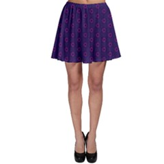 Dark Tech Fruit Pattern Skater Skirt