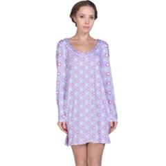 Light Tech Fruit Pattern Long Sleeve Nightdress