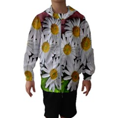 Flowers Flower Background Design Hooded Windbreaker (kids)