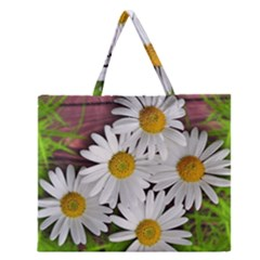 Flowers Flower Background Design Zipper Large Tote Bag
