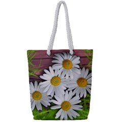 Flowers Flower Background Design Full Print Rope Handle Tote (small) by Sapixe