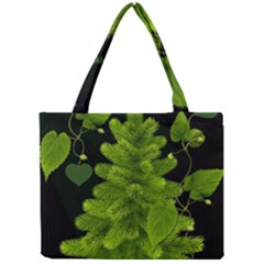 Decoration Green Black Background Mini Tote Bag