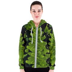 Decoration Green Black Background Women s Zipper Hoodie