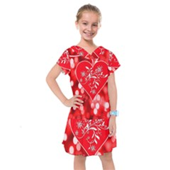 Love Romantic Greeting Celebration Kids  Drop Waist Dress