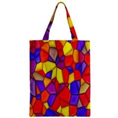 Mosaic Tiles Pattern Texture Zipper Classic Tote Bag