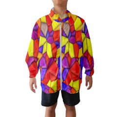 Mosaic Tiles Pattern Texture Windbreaker (kids)