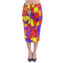 Mosaic Tiles Pattern Texture Midi Pencil Skirt
