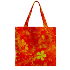 Background Reason Pattern Design Zipper Grocery Tote Bag