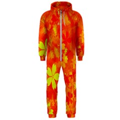 Background Reason Pattern Design Hooded Jumpsuit (men)