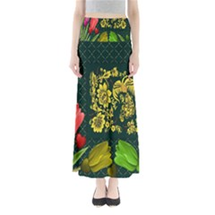 Background Reason Tulips Colors Full Length Maxi Skirt