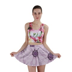 Background Desktop Flowers Lilac Mini Skirt