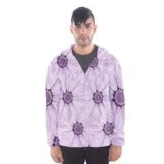 Background Desktop Flowers Lilac Hooded Windbreaker (men)