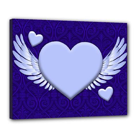 Background Texture Heart Wings Canvas 20  X 16