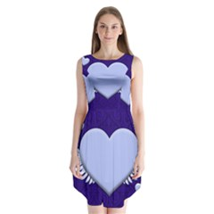 Background Texture Heart Wings Sleeveless Chiffon Dress