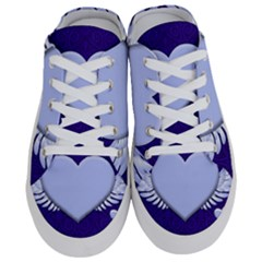 Background Texture Heart Wings Half Slippers