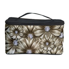 Background Flowers Cosmetic Storage Case