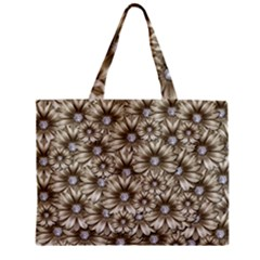 Background Flowers Zipper Mini Tote Bag