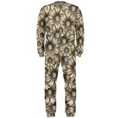 Background Flowers Onepiece Jumpsuit (men)