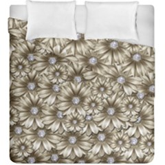 Background Flowers Duvet Cover Double Side (king Size)