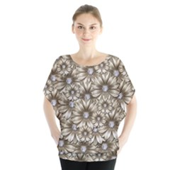 Background Flowers Blouse