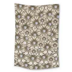 Background Flowers Large Tapestry
