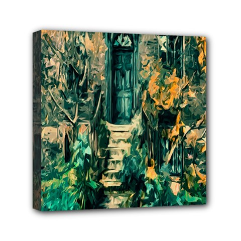 Porch Door Stairs House Mini Canvas 6  X 6