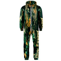 Porch Door Stairs House Hooded Jumpsuit (men)