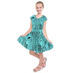 Design Backdrop Abstract Wallpaper Kids  Short Sleeve Dress