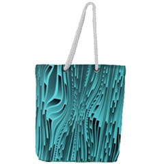 Design Backdrop Abstract Wallpaper Full Print Rope Handle Tote (large)