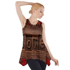 Background Romantic Love Wood Side Drop Tank Tunic