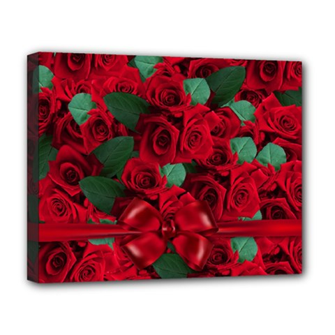 Floral Flower Pattern Art Roses Deluxe Canvas 20  X 16   by Sapixe
