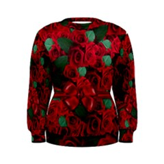 Floral Flower Pattern Art Roses Women s Sweatshirt
