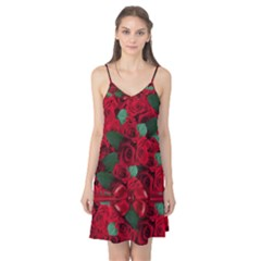 Floral Flower Pattern Art Roses Camis Nightgown