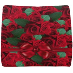 Floral Flower Pattern Art Roses Seat Cushion by Sapixe
