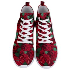 Floral Flower Pattern Art Roses Men s Lightweight High Top Sneakers