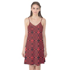 Abstract Background Red Black Camis Nightgown