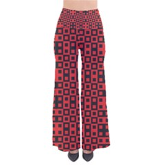 Abstract Background Red Black So Vintage Palazzo Pants