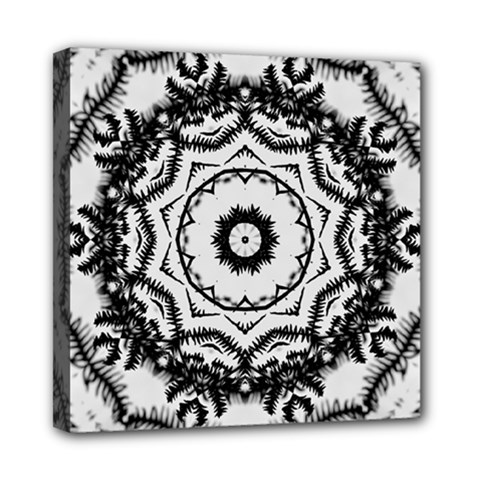Abstract Pattern Fractal Mini Canvas 8  X 8