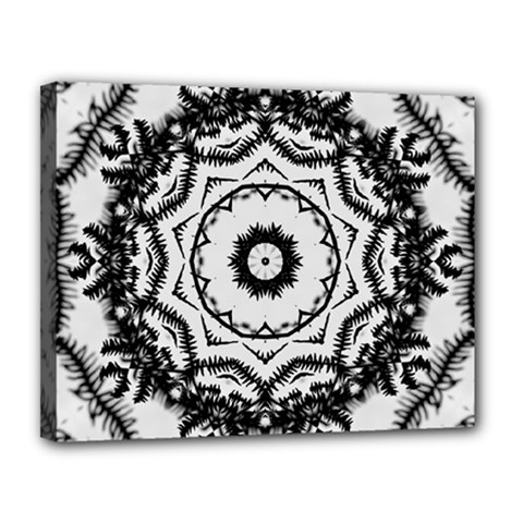 Abstract Pattern Fractal Canvas 14  X 11