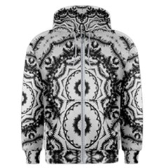 Abstract Pattern Fractal Men s Zipper Hoodie