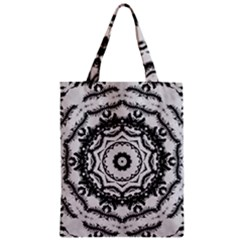 Abstract Pattern Fractal Zipper Classic Tote Bag
