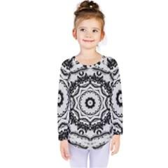 Abstract Pattern Fractal Kids  Long Sleeve Tee